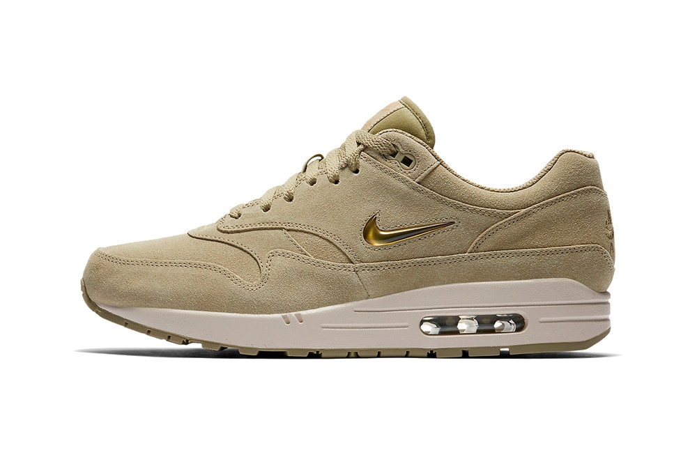 """9cac0d652afb Nike s Air Max 1 Jewel Gets Dipped In """"Gold Desert Sand"""""""